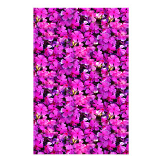 Carpet of flowers custom stationery