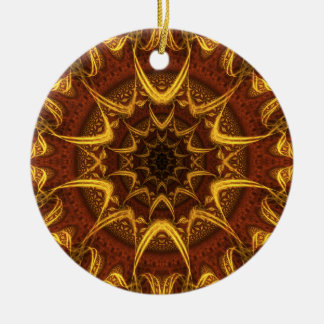 Carpet of the Sun Double-Sided Ceramic Round Christmas Ornament