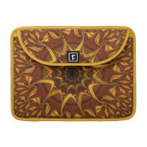 Carpet of the Sun Red and Gold Abstract Mandala MacBook Pro Sleeve