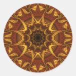 Carpet of the Sun Round Stickers
