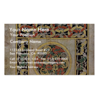 Carpet Page By Meister Des Book Of Durrow (Best Qu Business Card