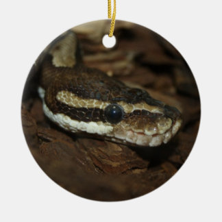 Carpet python Double-Sided ceramic round christmas ornament