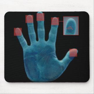 Carpet rat fingerprints mouse pad