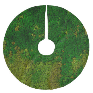 carpet structure,green brushed polyester tree skirt
