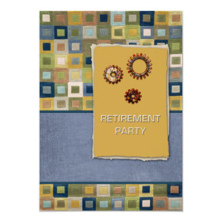 Carpet Tiles and Sprockets 3D Retirement Card