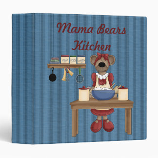 Carpeta/1,5 pulgadas de mamá Bears Kitchen Cook Bo
