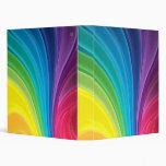 Carpeta abstracta de Avery del arco iris
