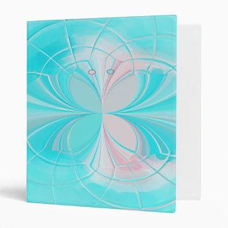 Carpeta abstracta de la mariposa del vitral