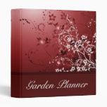 Carpeta abstracta floral del planificador del boda