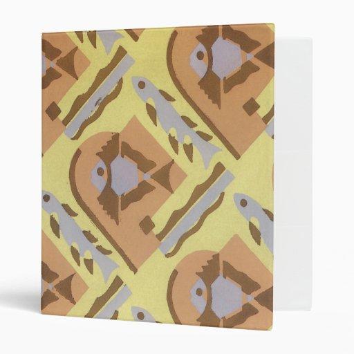 Carpeta abstracta geométrica de los pescados del