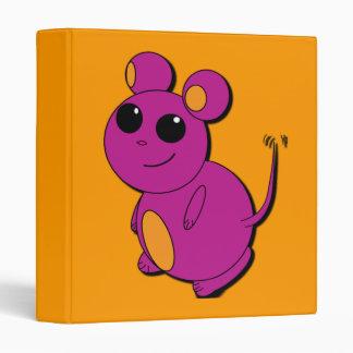 Carpeta abstracta púrpura rechoncha del ratón