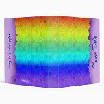 Carpeta adaptable del arte del arco iris suave