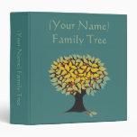 Carpeta adaptable del azul del árbol de familia
