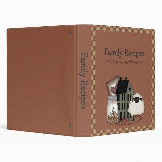 Carpeta adaptable del libro de cocina de la receta