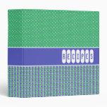 Carpeta adaptable retra de la receta del verde azu