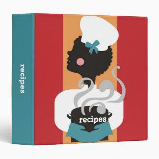 Carpeta afroamericana del libro de cocina de la