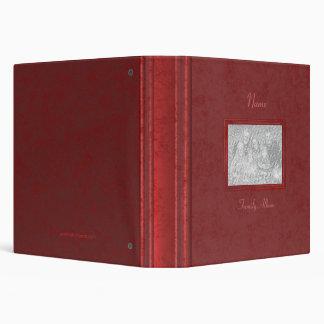 Carpeta - álbum de foto de familia (rojo antiguo)