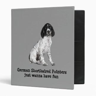 Carpeta alemana del perrito del indicador de pelo