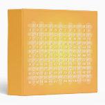 Carpeta amarilla de la tabla de multiplicación