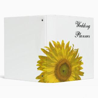Carpeta amarilla del boda del girasol