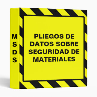 Carpeta amarilla española de MSDS Osha