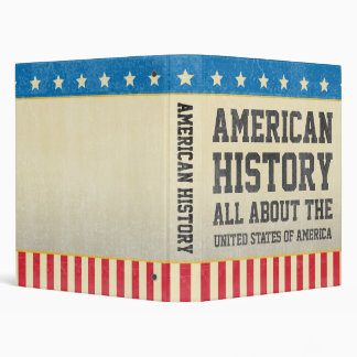 Carpeta americana de la historia del vintage