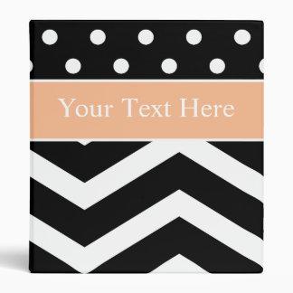 Carpeta anaranjada blanca negra del personalizado