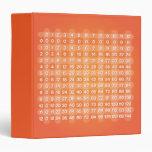 Carpeta anaranjada de la tabla de multiplicación