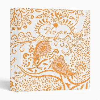 Carpeta anaranjada de Paisley