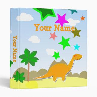 Carpeta anaranjada del dinosaurio