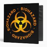 Carpeta anaranjada del símbolo del Biohazard