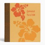 Carpeta anaranjada hawaiana del hibisco