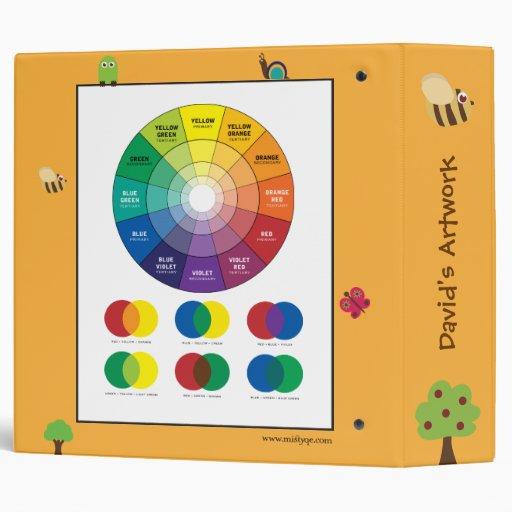 Carpeta animal del arte de la rueda de color