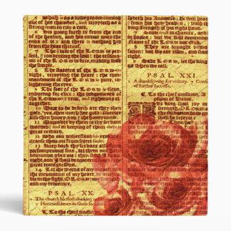 Carpeta antigua de los salmos y de los rosas