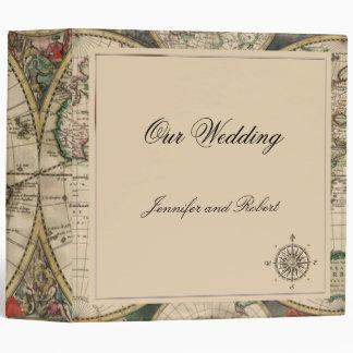 Carpeta antigua del boda del mapa de Viejo Mundo