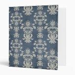 Carpeta apenada antigüedad del damasco del vintage