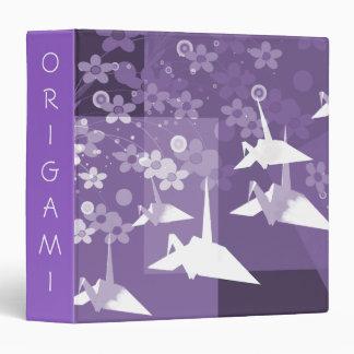 Carpeta asiática púrpura y blanca de Avery del art