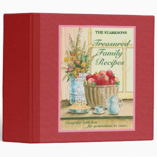 Carpeta atesorada de las recetas de la familia