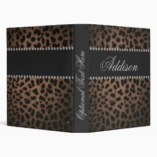 Carpeta atractiva de Bling del leopardo del diaman