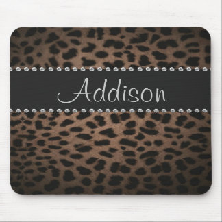 Carpeta atractiva de Bling del leopardo del diaman Alfombrilla De Ratones