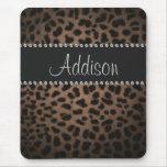 Carpeta atractiva de Bling del leopardo del Mouse Pad