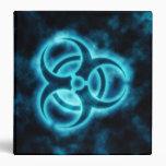 Carpeta Azul-Blanca del símbolo del Biohazard del