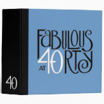 Carpeta azul blanca negra 40 fabulosos