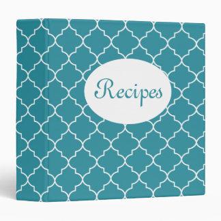 Carpeta azul brillante de la receta