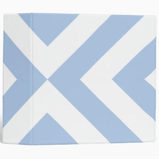 Carpeta azul clara y blanca de los galones