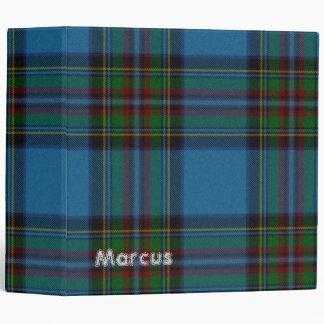 Carpeta azul colorida de la tela escocesa