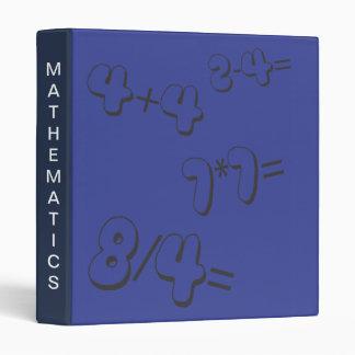 Carpeta azul de Avery de las matemáticas
