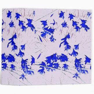 Carpeta azul de Avery de los Wildflowers de los na