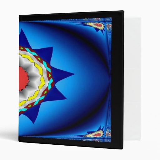 Carpeta azul de Avery del caleidoscopio