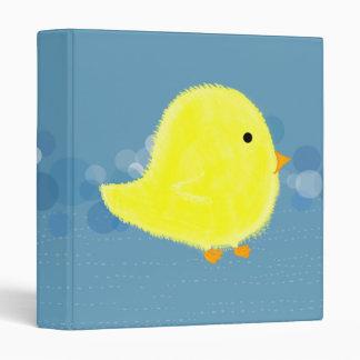 Carpeta azul de Avery del polluelo mullido del beb